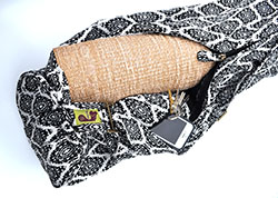Diamond Jacquard Yoga Mat Bag