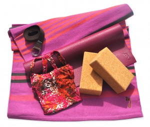 Barefoot Yoga Products in Pink & Brown