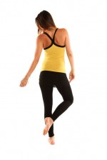 OMgirl Jiva Cami in Honey and Nomad Legging in Black