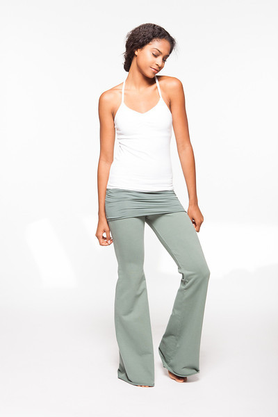 Top: Practice Cami in On The Rocks, Bottom: Nomad Pant in Martini Olive
