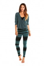 OMgirl Devotion Pullover in Blue Moon & Nomad Legging Mirage Stripe in Blue Moon