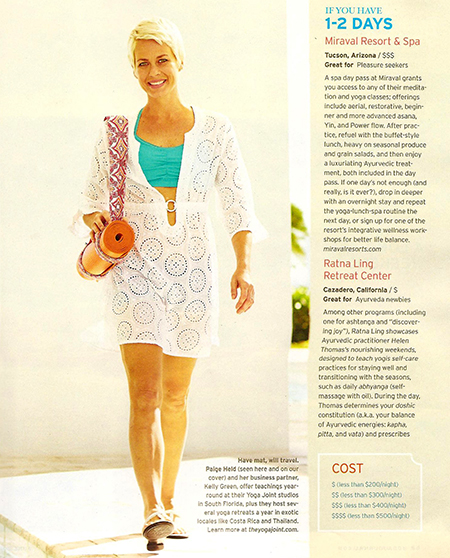 Barefoot Hybrid Eco Mat in Yoga Journal